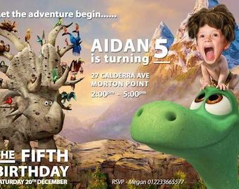 Good dinosaur Invitation, Good Dinosaur Birthday, The Good Dinosaur Birthday Party, The Good Dinosaur Birthday Party, Photo Good Dinosaur