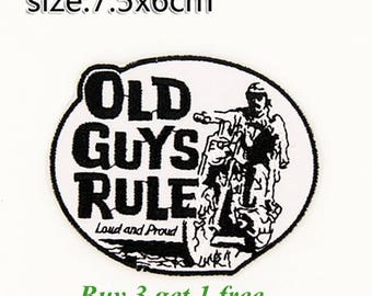 Old Guys Rule Patch Old Guys Rule Iron On Old Guys Rule Birthday Old Guys Rule Gift NOT Old Guys Rule embroidery design Old Guys Rule