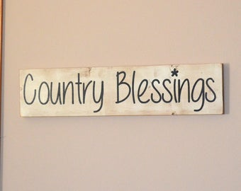 Country Blessings wooden sign