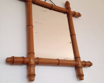 Mirror bamboo - vintage - 50 years