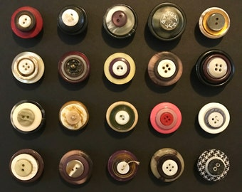 Vintage Button Magnets