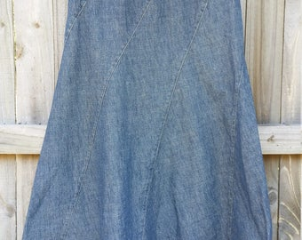 Figure-Hugging Perfection! High-waist denim skirt, petite