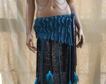 Custom tribal fusion (bra-sarong-skirt)