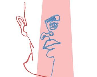 Eugen Portrait - Colour pencil drawing. Size is 24,8 x 18,6cm.