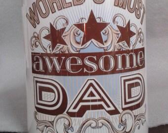 Worlds Most Awsome Dad ceramic mug