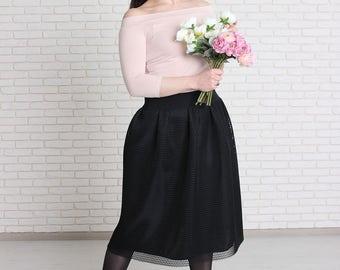 Women tulle skirt, Skirt with tulle of neoprene, Length tulle skirt, Tutu skirt, Carrie tulle skirt, Wedding tulle skirt.