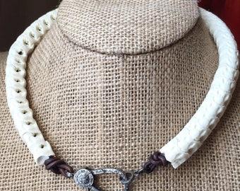 Snake Vertebrae Pavé Diamond Necklace
