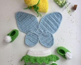 Handmade Tinkerbell Inspired Newborn Costume