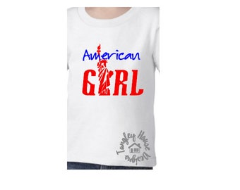 American Girl shirt/ Independence Day shirt/ Memorial Day shirt/ Fourth of July shirt/ Statue of Liberty shirt/ USA/ America