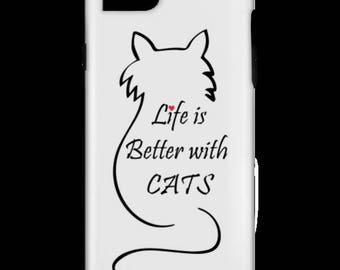 Life is better with cats iPhone 6 tough case