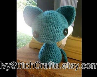 Crochet Cat Plush Toy