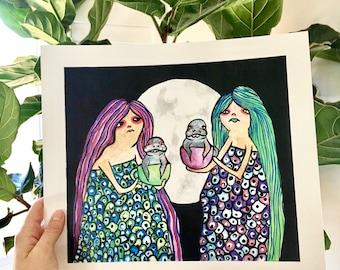 Manatea- Art Print