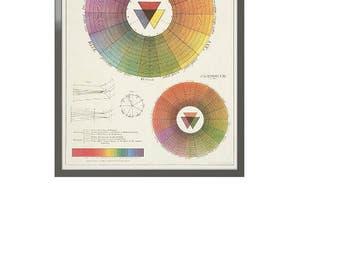 Color Wheel Framed Art