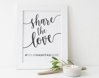 Wedding Instagram Sign | Instagram Hashtag Sign | Wedding Hashtag Sign | Hashtag Sign | Share the Love