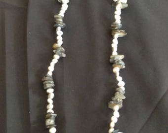 Freshwater pearl and Abalone shell necklace