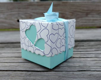 5+ Baby Favor Box, Blue Baby Boy Candy Favor Box, FREE Ribbons!
