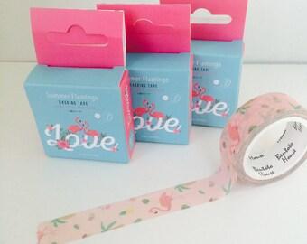 Flamingo Summer Pink Washi Tape