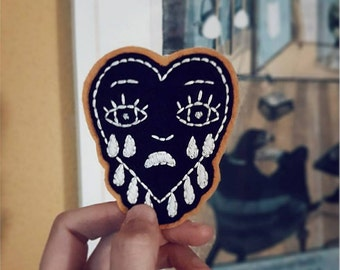 Heart Patch, Hand embroidered