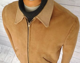 Old Vintage Favorite! FIELDMASTER Sears SOFT Suede LEATHER Jacket Hercules Coat