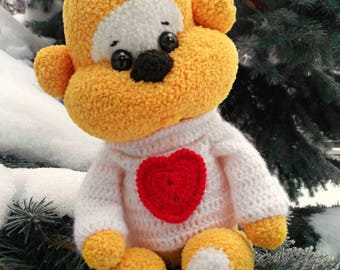 Bear, crocheted, Toy, gift