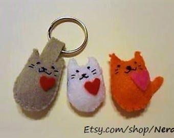 Mini Cat Felties - Key Chain, Magnet