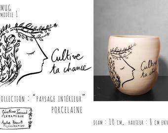 Illustrated China Mug model 1