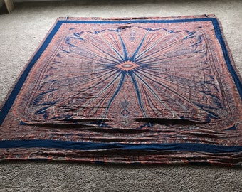 Silk and Camel Wool Rug Blanket/Tapestry