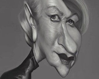 Helen Mirren Caricature