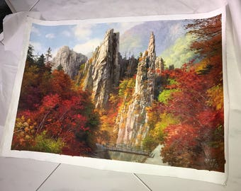 Mt Kumgang Oil Painting from North Korea