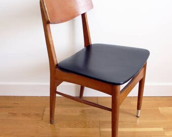 Scandinavian vintage 70s Brown and seat chair black