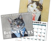 Business Cats Wall Calendar 2017
