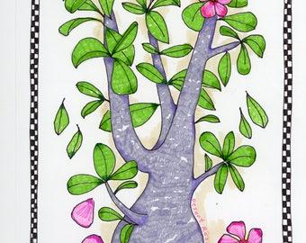 Desert Rose - Original Mixed Media Art