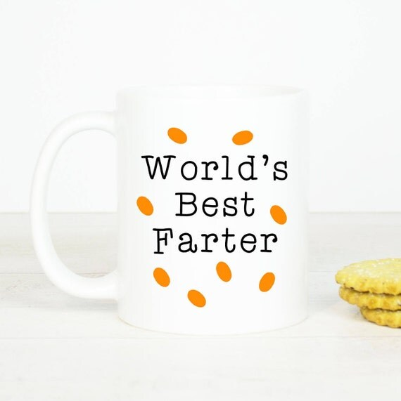 Personalised World's best Farter mug, great Father gift, for your Dad birthday of Father's day