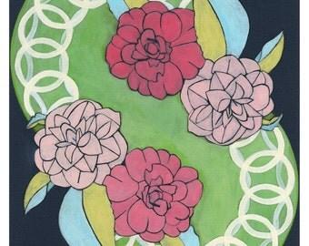 Camellia Flower Giclee Print