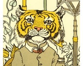 SALE: matted tiger pipe silkscreen