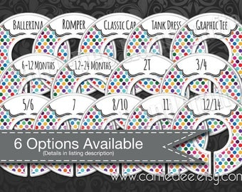 Assembled Dot Dot Smile Rack Dividers - Styles Dividers & Size Dividers Available - Fashion Consultant, Simply Dots Design, DotDotSmile dds