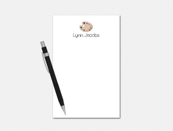 Personalized Artists Notepad
