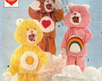 Butterick 6814 Care Bear Child's Costume  Cut to Medium 4-5 ©1984 Top Pants Mittens Feet
