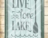 Lake SVG Cut File - live love lake SVG - outdoor svg - fishing svg - camping svg - boating svg   - Commercial Use ok -  svg, png, dfx, jpg