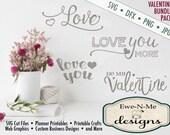 Valentine svg, Valentines svg bundle, Wedding svg, Love svg, svg for cricut or silhouette,  Commercial Use  svg, dxf, png and jpg