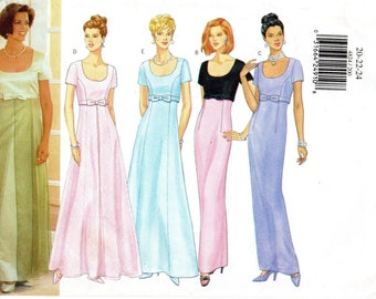 Butterick 4824 Misses Petite Dress Size 20-22-24 Uncut Pattern Copyright 1997