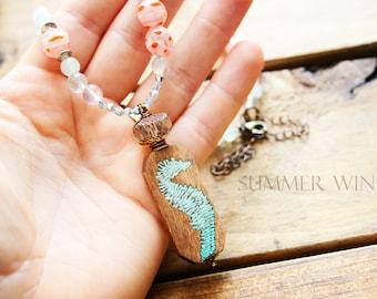 Seahorse Pendant Summer Necklace