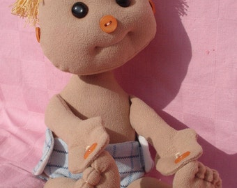 PDF pattern/Soft sculpture doll pattern/ Boy doll/ Baby boy/ Interactive doll/ Pattern/Cloth doll/ Toy pattern/ Instant download /Baby Alex