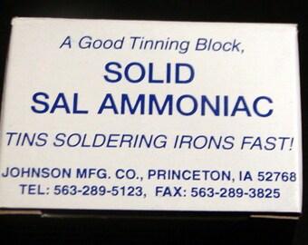 Sal Ammoniac Block, 4 oz. Soldering Iron Tip Cleaner