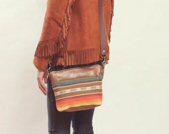 Ethnic Crossbody, Southwestern Bag, Teen Crossbody,  Boho Day Bag, Mexican Bag, Teen Makeup Bag, Boho Makeup Bag, Boho Organizer