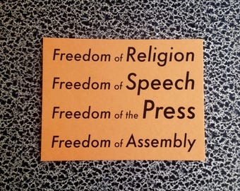10 postcards freedom of religion, speech, press, assembly political postcard