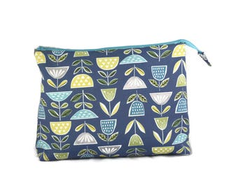 Knitting Project Bag, Knitting Bag with Zipper