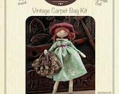 Miniature Vintage Style Carpet Bag Kit  for your Verity Hope doll - Sherwood