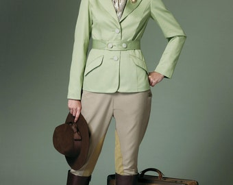 Sewing Pattern Butterick 6433 -Women's Steampunk Banded Jacket Pan Breeches,Jodhpurs Size 6-8