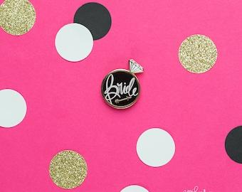 Bride Enamel Pin, Bride pin, Bride gift, Bride keepsake